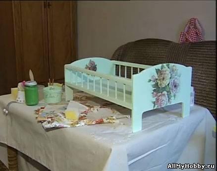 Декупаж мастер класс детская мебель