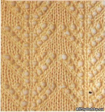 Схема для вязание спицами №1.