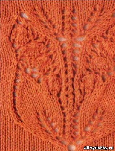 Схема для вязание спицами №17.