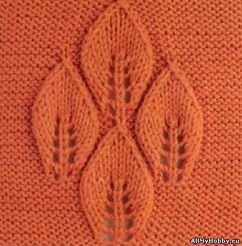 Схема для вязание спицами №13.