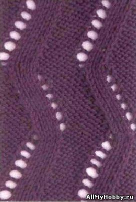 вязание спицами ажурная вязка