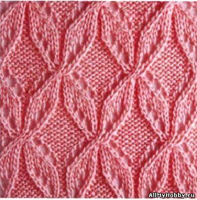 Схема для вязание спицами №8.