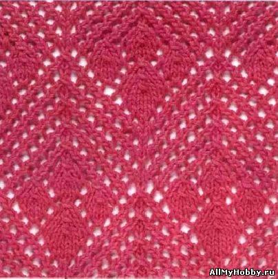 Схема для вязание спицами №7.