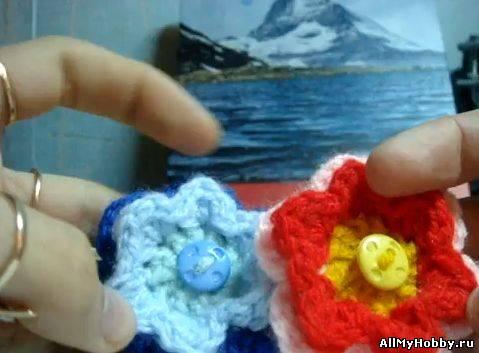Вязание цветочков крючком