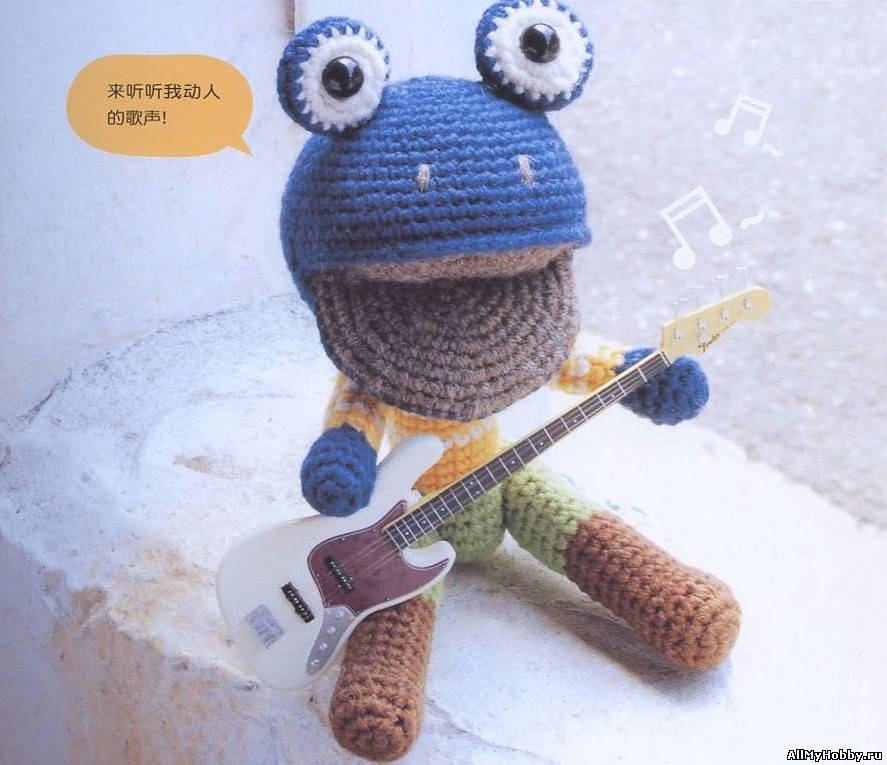 Амигуруми - Лягушка. Вязание