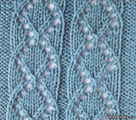 вязание спицами ажурная вязка схема
