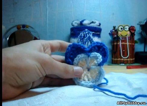 Вязание крючком Анютиных