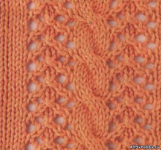 Схема для вязание спицами №23.