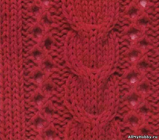 Схема для вязание спицами №22.