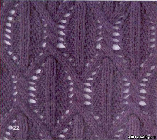 Схема для вязание спицами №27.