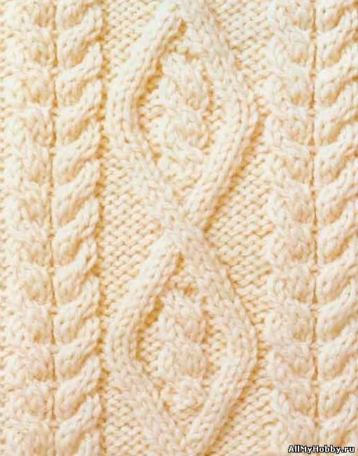 Схема вязания спицами №31 Аран