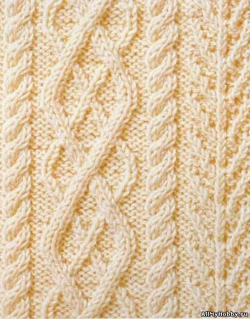 Схема вязания спицами №32 Аран