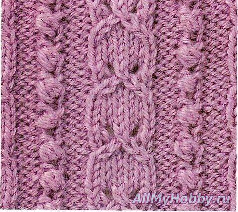 Узор для вязания спицами №373.