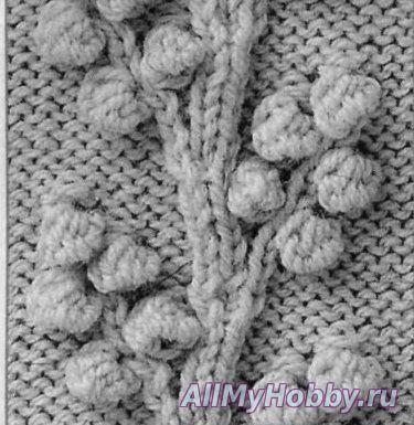 Схема вязания листика спицами фото 713