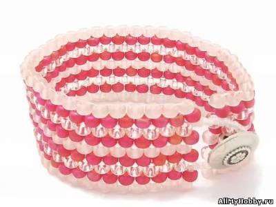 Как создать браслет в технике мозаичное плетение.